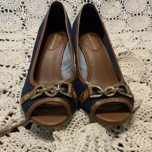 Tommy Hilfiger Open-Toe Wedge Heels size 6 1/2